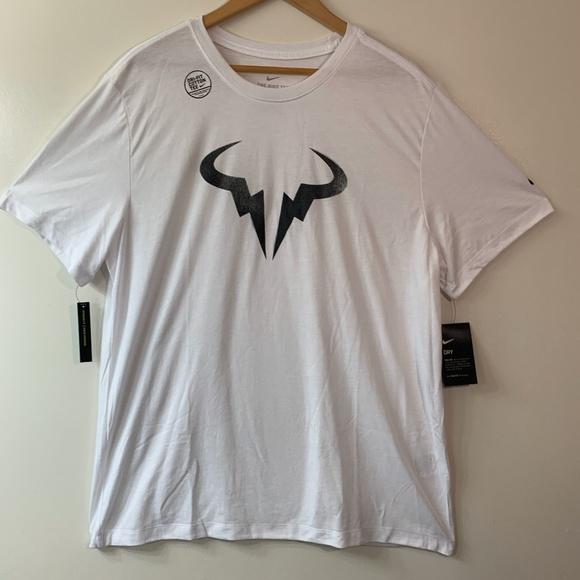 Nike Shirts Nikecourt Drifit Rafael Nadal Logo Tshirt Poshmark